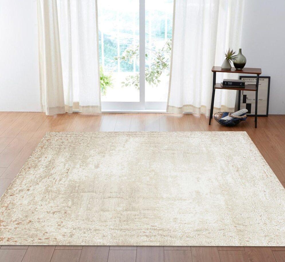 kremowy dywan